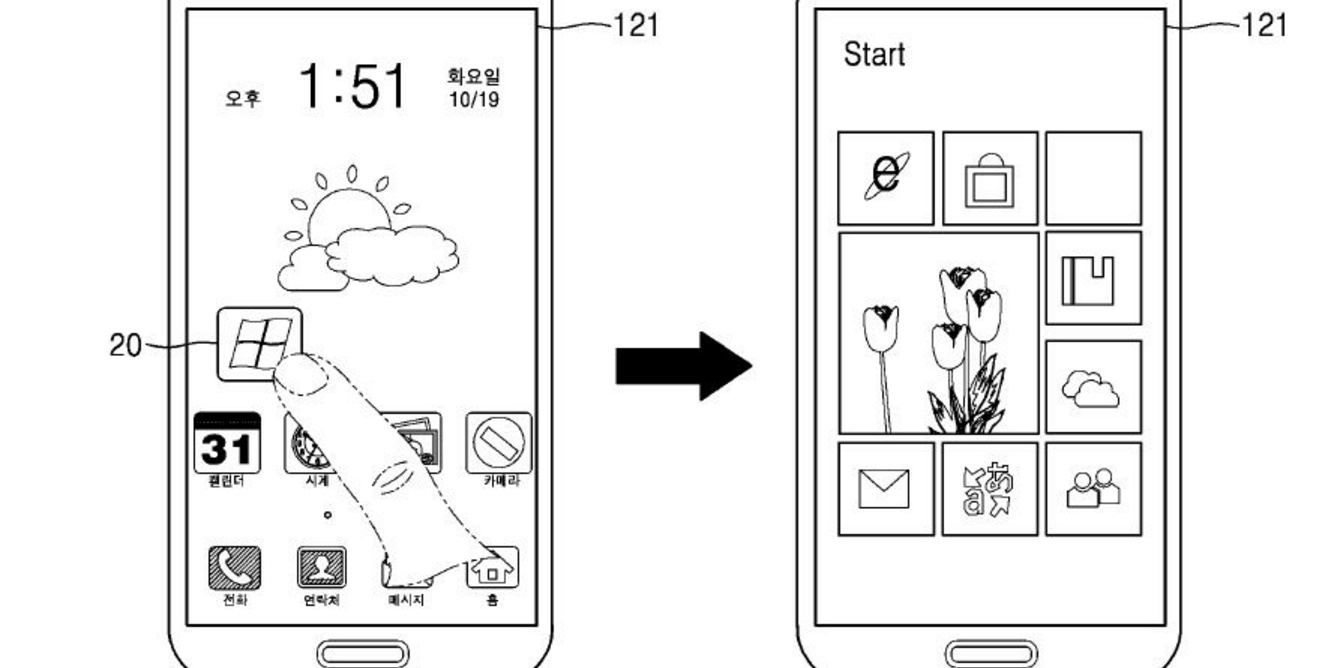 samsung android windows patent